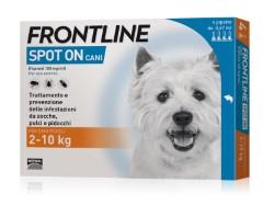Frontline ANTIPARASSITARIO SPOT ON  per cani 2÷10 kg (cf. 4 pipette)