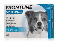 Frontline ANTIPARASSITARIO SPOT ON  per cani 10÷20 kg (cf. 4 pipette)