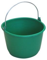 SECCHIO IN PLASTICA GRADUATO  lt. 18 - col. Verde
