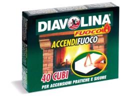 Diavolina accendifuoco (40 cubi)