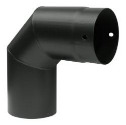 Ala gomiti stufa aeternum 90° nero 12 cm