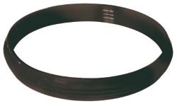 Guarnizione siliconica nera diametro 8 cm