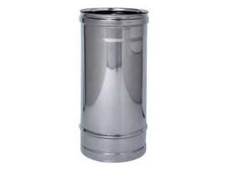 TUBO PER STUFA ACCIAIO INOX - 15x100 CM