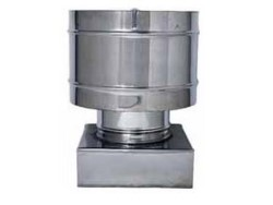 FUMAIOLO FISSO ANTIVENTO INOX Quadrato cm. 22x22